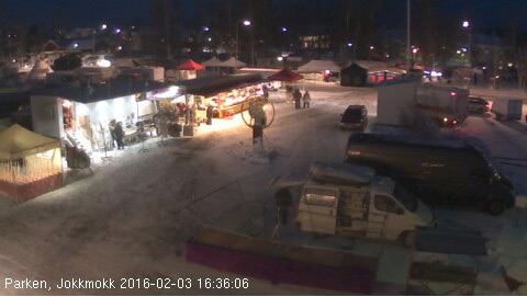 Webcam from the Jokkmokk winter market
